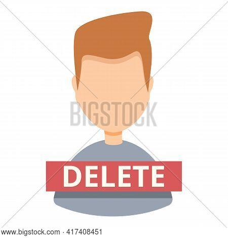 Delete User Avatar Icon. Cartoon Of Delete User Avatar Vector Icon For Web Design Isolated On White