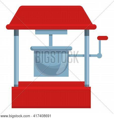 Popcorn Fairground Icon. Cartoon Of Popcorn Fairground Vector Icon For Web Design Isolated On White