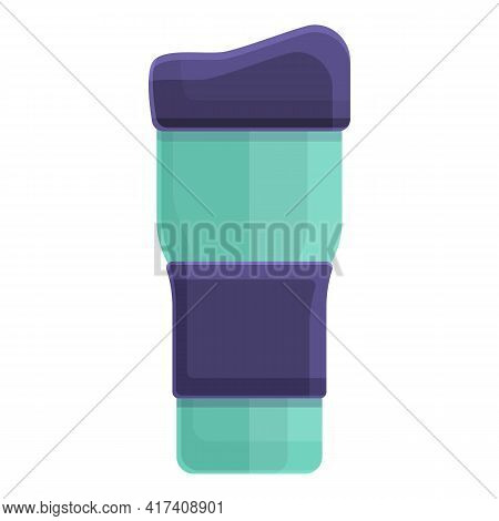 Thermo Cup Icon. Cartoon Of Thermo Cup Vector Icon For Web Design Isolated On White Background