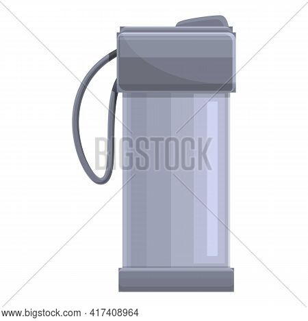 Steel Thermo Cup Icon. Cartoon Of Steel Thermo Cup Vector Icon For Web Design Isolated On White Back