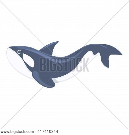 Killer Whale Orca Icon. Cartoon Of Killer Whale Orca Vector Icon For Web Design Isolated On White Ba