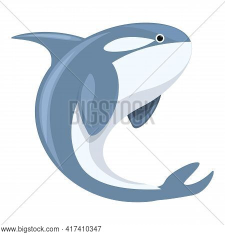 Killer Whale Tail Icon. Cartoon Of Killer Whale Tail Vector Icon For Web Design Isolated On White Ba