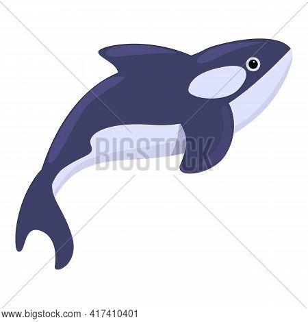 Deep Killer Whale Icon. Cartoon Of Deep Killer Whale Vector Icon For Web Design Isolated On White Ba