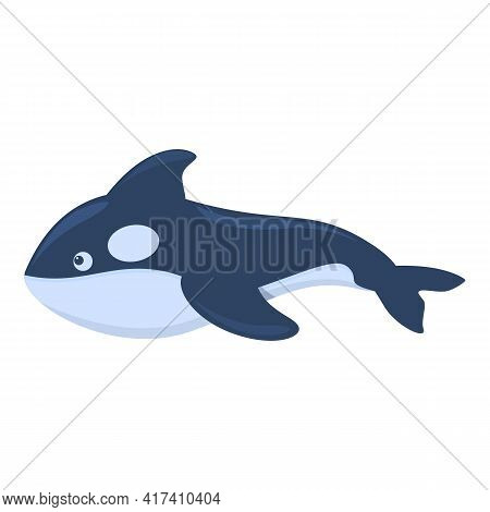 Sea Killer Whale Icon. Cartoon Of Sea Killer Whale Vector Icon For Web Design Isolated On White Back