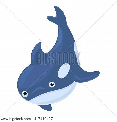 Wildlife Killer Whale Icon. Cartoon Of Wildlife Killer Whale Vector Icon For Web Design Isolated On