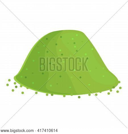 Green Paprica Powder Icon. Cartoon Of Green Paprica Powder Vector Icon For Web Design Isolated On Wh
