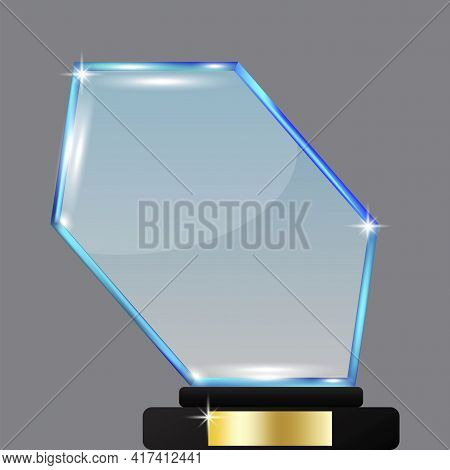 Blue Gem On White Background. Gem In Royal Style. Vector Illustration. Stock Image. Eps 10.