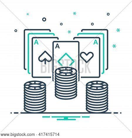 Mix Icon For Poker  Poker-chip Card Gamble Gambling