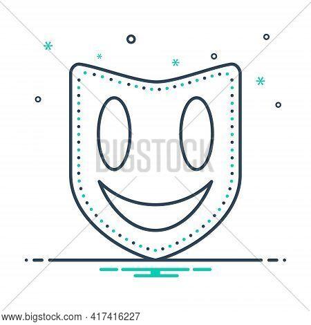 Mix Icon For Mask Face-mask Masquerade Drama Performance