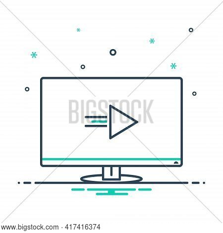 Mix Icon For Tv  Television Screen Display  Electronic-device