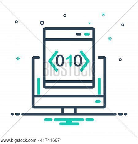 Mix Icon For Custom-coding Custom Coding Software Programming App Technology