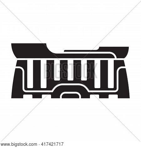 Arena Vector Black Icon. Vector Illustration Stadium On White Background. Isolated Black Illustratio
