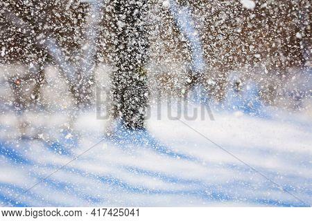 Snowfall Winter Snow. Snow Texture. Texture For Design. Snowy White Texture. Snowflakes.