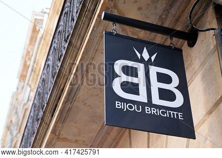 Bordeaux , Aquitaine France - 04 15 2021 : Bb Bijou Brigitte Logo Store And Brand Text Sign Boutique