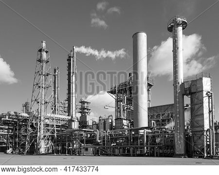 Large-capacity Workshop For The Production Of Ammonia Of A Petrochemical Plant. Exterior Of Tube Fur