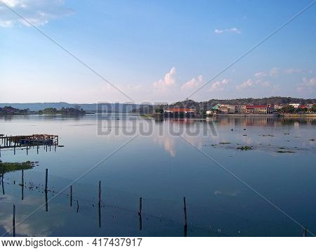 The View Of The Lake In Flores, Guatemala