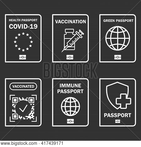 Travel Immune Document. Covid-19 Immunity Certificate For Safe Traveling Or Shopping. Control Covid-