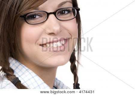 Teenage Girl With Glasses