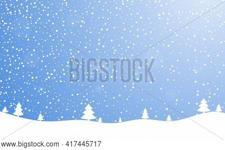 Christmas Holiday Background. Winter Snow December Landscape, White Cold Falling Snowflake. Christma