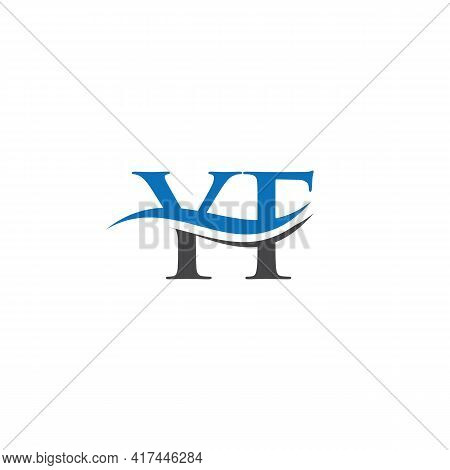Swoosh Letter Yf Logo Design For Business And Company Identity. Water Wave Yf Logo With Modern Trend