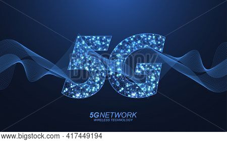 5g Network Wireless Technology Concept. 5g Web Banner Icon For Business And Technology, Signal, Spee