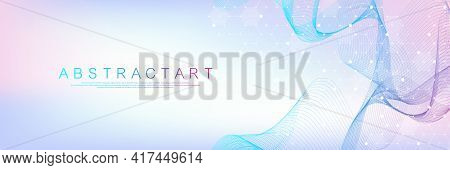 Health Care And Medical Pattern Innovation Concept Science Background Design. Abstract Geometric Hex