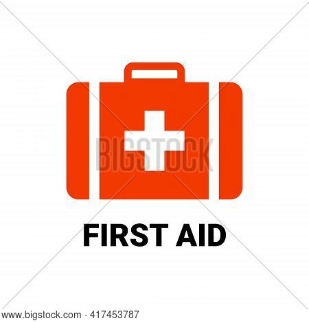 First Aid Icon Symbol. Vector Cross Safety Medic Treatment Ambulance First Aid Help
