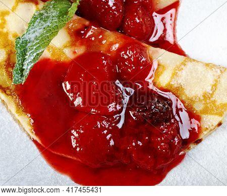 Ahvenanmaan Pannukakku - Aland Pancake  Type Of Oven-baked Pancake Made With Semolina And Flavoured