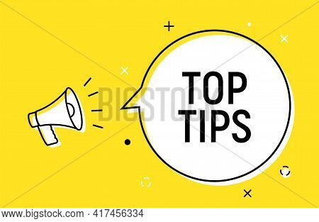 Top Tips Quick Trick Reminder Advice Business Icon. Top Tip Helpful Information