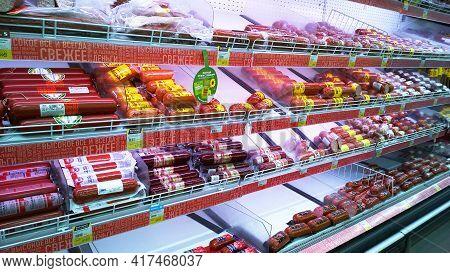 St. Petersburg, Russia - April 18, 2021: Top Supermarket - One Of Biggest Retailer. Retail Industry.