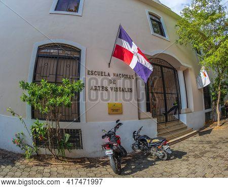 Santo Domingo, Dominican Republic - March 13, 2020: The National School Of Visual Arts (enav). It Op