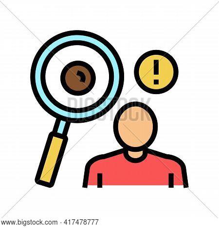 Surveillance Of Moles Color Icon Vector. Surveillance Of Moles Sign. Isolated Symbol Illustration