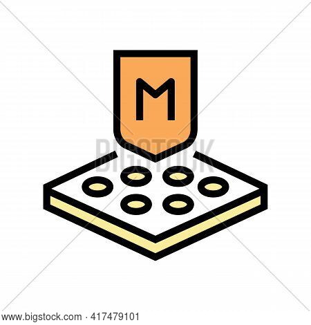 Membrane Fabrics Properties Color Icon Vector. Membrane Fabrics Properties Sign. Isolated Symbol Ill