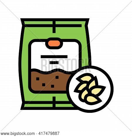 Seeds Gardening Color Icon Vector. Seeds Gardening Sign. Isolated Symbol Illustration