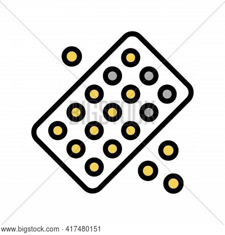 Drug Homeopathy Package Color Icon Vector. Drug Homeopathy Package Sign. Isolated Symbol Illustratio