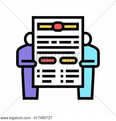 Leasing Contract Law Dictionary Color Icon Vector. Leasing Contract Law Dictionary Sign. Isolated Sy