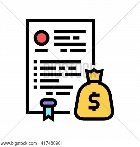 Budget Law Dictionary Color Icon Vector. Budget Law Dictionary Sign. Isolated Symbol Illustration