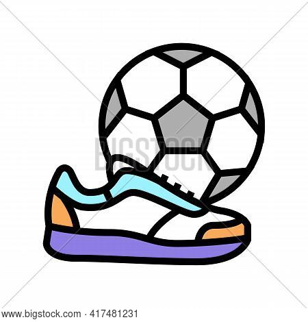 Play Football Soccer Mens Leisure Color Icon Vector. Play Football Soccer Mens Leisure Sign. Isolate