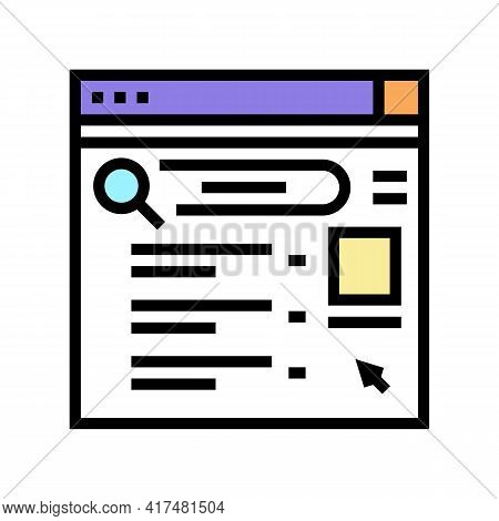 Internet Mens Leisure Color Icon Vector. Internet Mens Leisure Sign. Isolated Symbol Illustration