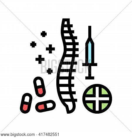 Treatment Scoliosis Color Icon Vector. Treatment Scoliosis Sign. Isolated Symbol Illustration