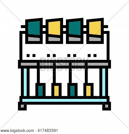 Industrial Embroidery Machine Color Icon Vector. Industrial Embroidery Machine Sign. Isolated Symbol