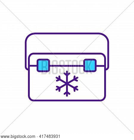 Freezing And Storing Donated Organs Rgb Color Icon. Storage In Sub-zero Temperatures. Cells And Tiss