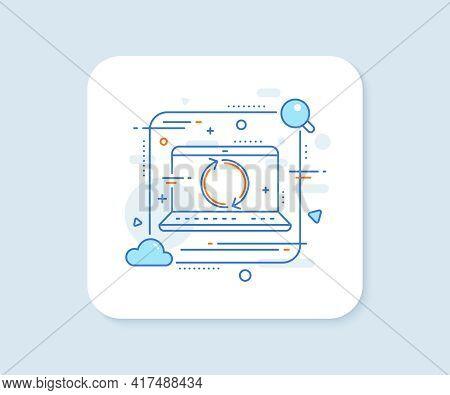 Refresh Arrow Line Icon. Abstract Vector Button. Rotation Arrowhead Symbol. Navigation Pointer Sign.
