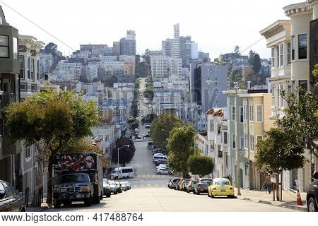 San Francisco, California / Usa - August 25, 2015: San Francisco City, San Francisco, California, Us