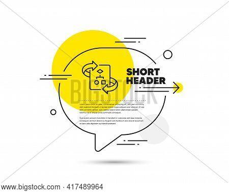 Technical Algorithm Line Icon. Speech Bubble Vector Concept. Project Documentation Sign. Technical A
