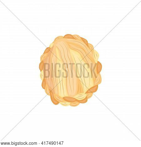 Crown Braid Hairstyle From Top View - Blond Hair Braided In Wrap Around Fashion