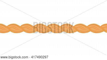 Blonde Hair Braid, Seamless Line Of Orange Twisted Strand