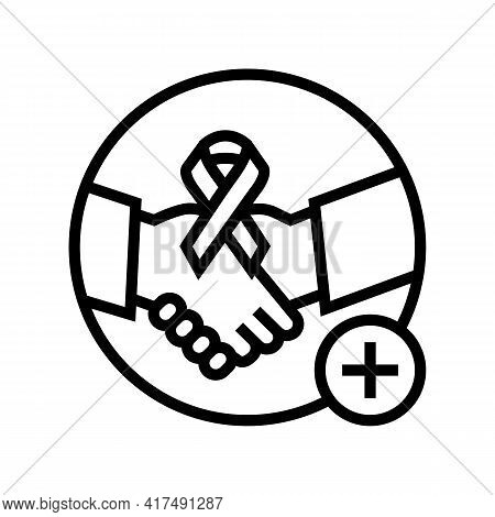 Supportive Dermato-oncology Program Line Icon Vector. Supportive Dermato-oncology Program Sign. Isol