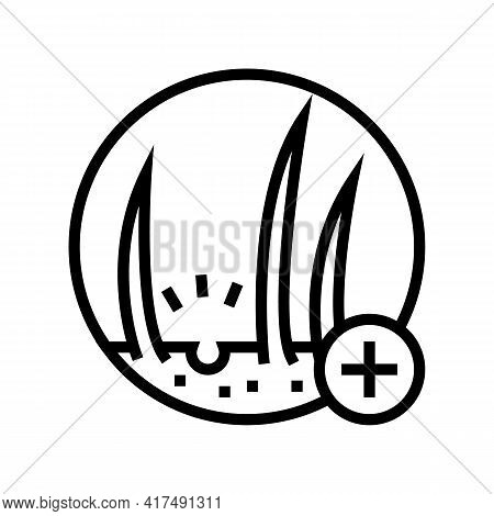 Hair Loss Clinic Line Icon Vector. Hair Loss Clinic Sign. Isolated Contour Symbol Black Illustration