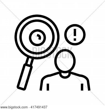 Surveillance Of Moles Line Icon Vector. Surveillance Of Moles Sign. Isolated Contour Symbol Black Il